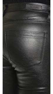 Blank Denim Vegan Leather Embroidered Skinny Pants