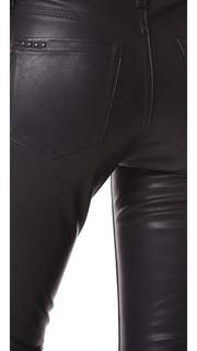Blank Denim Faux Leather Stirrup Pants