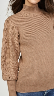 Caroline Constas Chunky Cable Knit Sweater