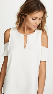 Cooper & Ella Short Sleeve Cold Shoulder Blouse