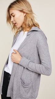 Chaser Open Front Hooded Cardigan