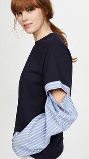 Clu Open Sleeve Striped Top