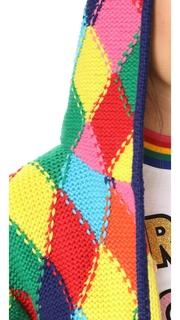 Mira Mikati Diamond Stitch Long Knit Cardigan