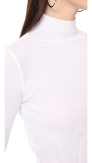 Cotton Citizen The Melbourne Crop Ribbed Turtleneck