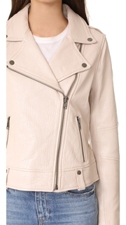 cupcakes and cashmere Dalrie Textured Moto Jacket