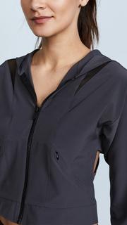 Cushnie Et Ochs Selma Hooded Zip Up Jacket