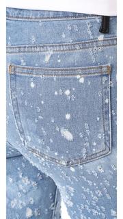 Denim x Alexander Wang Slim Destroyed Light Indigo Fade Jeans