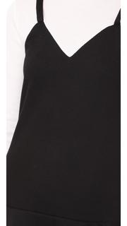 ENGLISH FACTORY Ruffle Hem Sweater Dress