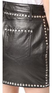 FRAME Studded Mini Skirt