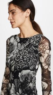 Fuzzi Floral Long Sleeve Dress