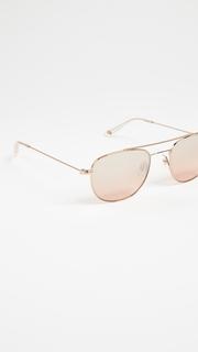 GARRETT LEIGHT Club House Aviator Sunglasses