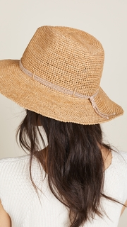 Hat Attack Raffia Crochet Continental Hat