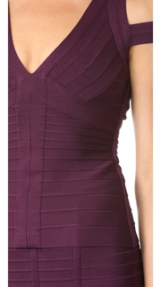 Herve Leger V Neck Top