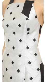 Josh Goot Layered Halter Mini Dress