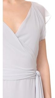 Joanna August Dorian Ruffle Sleeve Wrap Dress