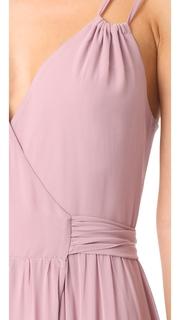Joanna August Alessandra Long Double Strap Wrap Dress