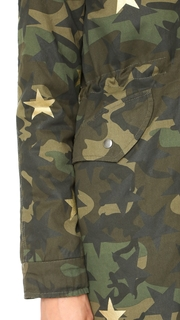 Jocelyn Camo with Stars Duffle Coat