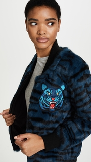 Jocelyn Tiger Print Bomber Jacket