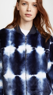 Jocelyn Tie Dye Fur Bomber Jacket