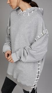 Jonathan Simkhai Loop Back Whipstitch Oversized Hoodie