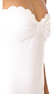 Kate Spade New York Scalloped Bandeau One Piece