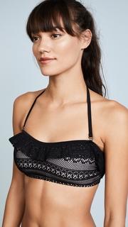 Kate Spade New York Point Loma Ruffle Bandeau Bikini Top