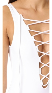 Karla Colletto Entwined Plunge Neck Tank One Piece