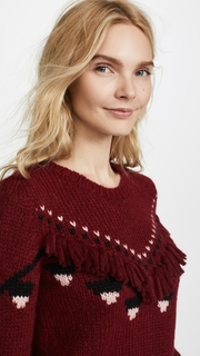 LOVESHACKFANCY Atlas Cropped Pullover