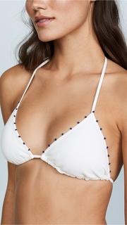 Marysia Swim Triangle Top with French Knot