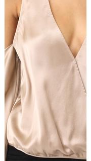 Michelle Mason Cold Shoulder Blouse