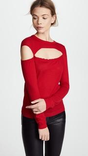 Michelle Mason Asymmetric Cutout Sweater