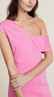 Michelle Mason Asymmetric Strap Dress