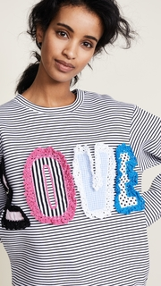 Michaela Buerger LOVE Striped Sweatshirt