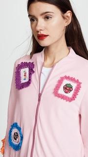 Michaela Buerger Strawberry Patch Zip Jacket
