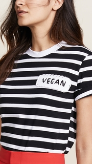 Michaela Buerger Vegan Patch Striped Tee