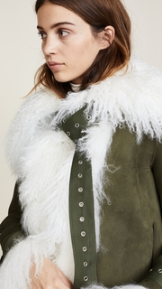 Monse Suede Shearling Bomber Jacket
