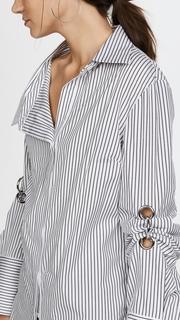Monse Scrunch Sleeve Grommet Shirt