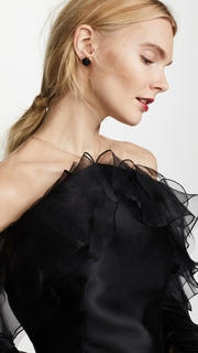 Marchesa Illusion Halter Cocktail in Mikado