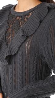 Nightcap x Carisa Rene Lace Inset Sweater
