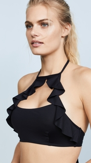 OndadeMar Every Day High Neck Ruffled Halter Top