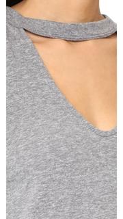 Pam & Gela Long Sleeve Choker Tee