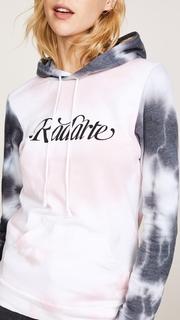 Rodarte Two Tone Crystal Dye Hoodie