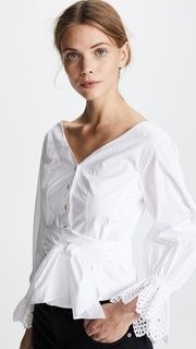 Rebecca Taylor Long Sleeve Pop Top