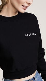 RE/DONE Reverse Weave Pullover Sweatshirt