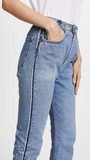RE/DONE x Levis High Rise Relaxed Zip Crop Jeans