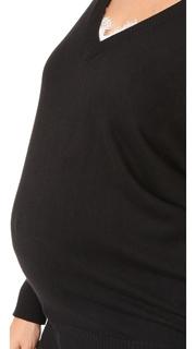 Rosie Pope V Neck Maternity Sweater
