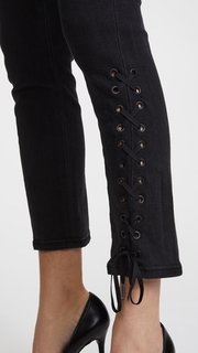 Siwy Jeanette Lace Up Crop Straight Jeans