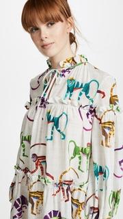 Stella Jean Tie Neck Flowy Dress