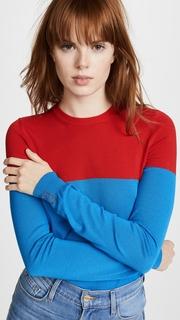 Stella Jean Colorblocked Long Sleeve Top
