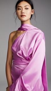 Solace London Sorina Side Twist Dress